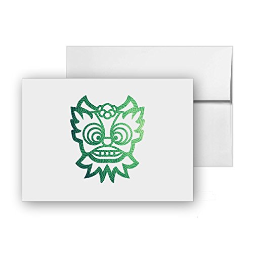 Chinese Dragon Chinese-dragon Chinese New-year Mythical Dragon, Blank Card Invitation Pack, 15 cards at 4x6, with White Envelopes, Item -