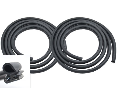 1979-1993 Mustang Body to Door Weatherstrip Rubber Seal - Left and Right Side Pair ()