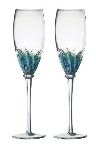 Solar Flutes, Set of 2, Blue by Solar