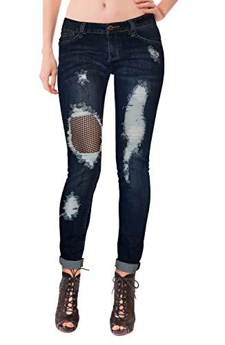 00 Loop - HyBrid & Company Super Comfy Stretch Women 5 Pocket Jeans P48230SK Darkwash 00