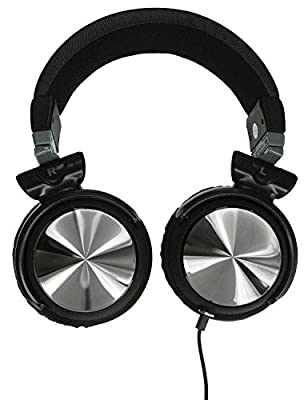 Adagio Over-Ear Acoustic Headphones   Black & Silver   Lightweight   Comfort   Powerful Bass   Audiophile   iPhone & Android Compatible   3.5mm