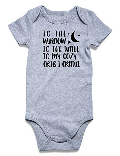 Baby Bodysuit Costume Letter Print Unisex-Baby Romper Jumpsuit Cute Novelty Snap Closure Newborn Short Sunsuit One-Piece 0-3 Months