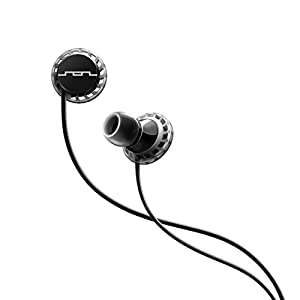 SOL REPUBLIC Relays Sport Wired 3-Button In-Ear Headphones, Apple Compatible, Secure Fit For Workouts, Won't Fall Out, In-Ear Noise Isolation, 4 Ear Tip Sizes, Great For Calls, 1151-31 Black