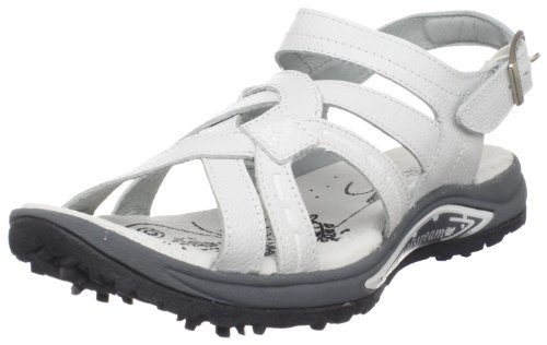 Golfstream Women's Spiked Golf Shoe,White,7 M US