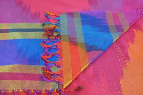 Varanasi Ekal 100% Foulard de Soie Tamwar 10 Gamme Heritage par Pashmina & Silk