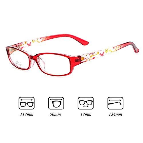 Filles Garçons Lunettes - Verres à lentilles transparentes Cadre Geek / Nerd Eyewear Lunettes avec boîtier en forme de voiture - hibote #112205 Vin rouge