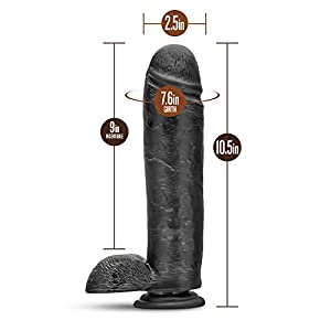 "Eden 11"" Extra Long Thick Realistic Dildo -- Monster Cock and Balls Dong -- Sex Toy for Women -- Sex Toy for Adults (Black)"