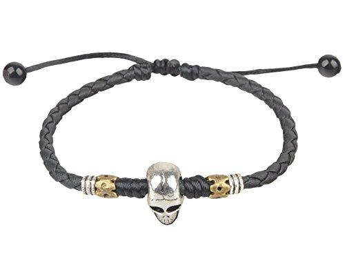 Ancient Tribe Handmade Adjustable Black Leather Anklet (15#) ()