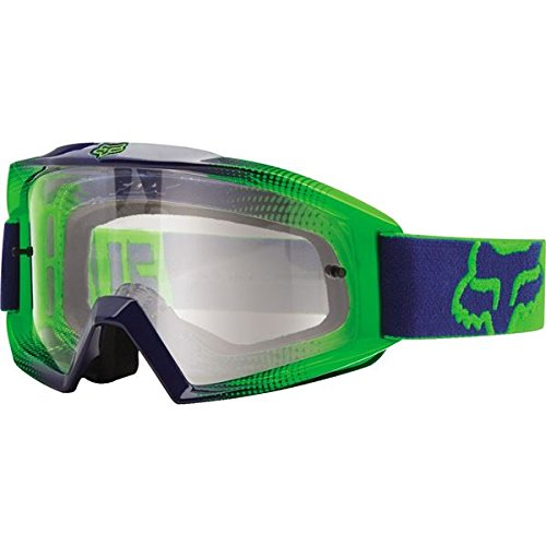 - Fox Racing Main Race 2 Unisex Motocross Motorcycle Goggles Eyewear - Navy-Green/Clear / No Size