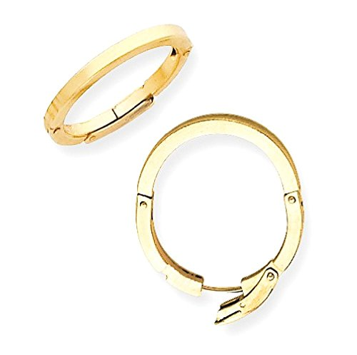 ICECARATS 10k Yellow Gold 2mm Finger Fit Standard Adjustable (Shank Finger)