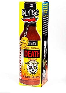 product image for RetailSource Death Sauce with Chipotle and Skull Key Chain, Original, 5 oz.