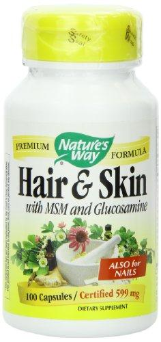Природы Путь волос и кожи, 599 мг, 100 капсул