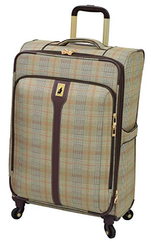 Sets Plaid Luggage (London Fog Knightsbridge 25-Inch Exp Spinner)