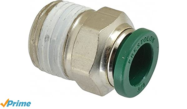 Prestolok Fitting pneumatic male connector 1//4 W68PL-4-6 Parker Lot of 5