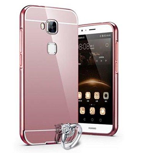 PREVOA® 丨 Metal Bumper Frame + Back Plastic Case Protictive Funda Huawei Nova Plus Smartphone 5,5 Pulgadas - Plata