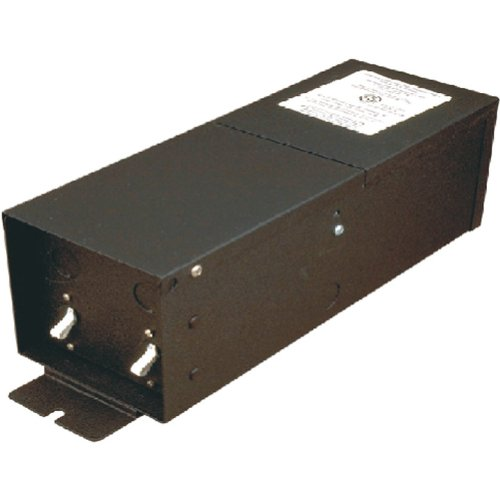 Alico Lighting MRT99107-N-31 Mono Rail 12V 300W by 2 Remote Magnetic Transformer, Black Powder Coated Finish ()