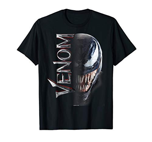 Marvel Venom Split Down The Middle Grin Graphic T-Shirt