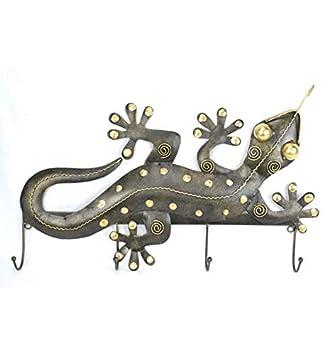 Perchero de pared modelo salamandra con 4 ganchos de hierro ...