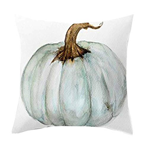 Mysky Halloween Pumpkin Watercolor Throw Pillow Case Cushion Cover Home Decor -