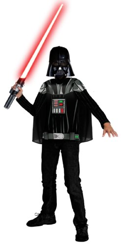 [Rubies Costumes Star Wars Darth Vader Child Costume Kit Black Small (4-6)] (Tv Movie Childrens Costumes)