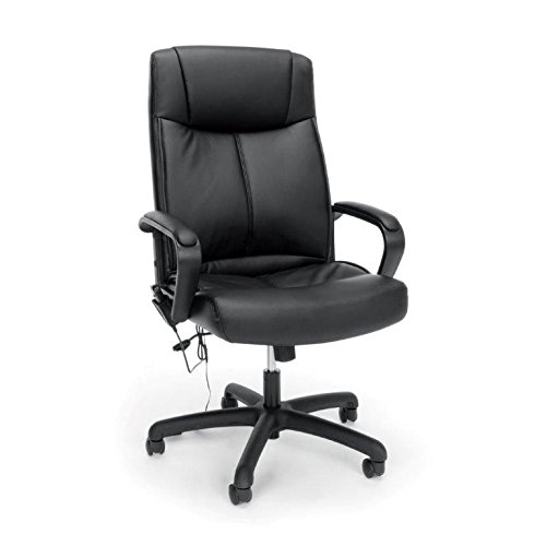 Essentials High-Back, Leather Executive Massage Office/Computer Chair (Leatherette Guest Chair)