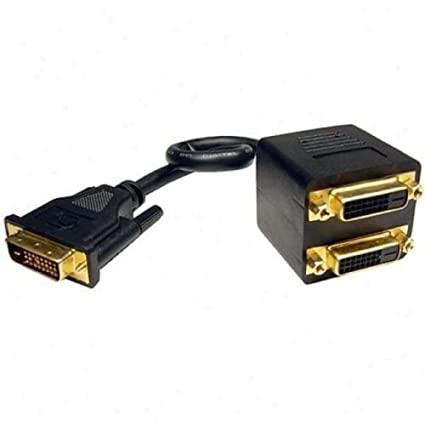 Video Y Splitter Cable Adapter NEW DVI-D Male to Dual 2 DVI-I Female 24+1