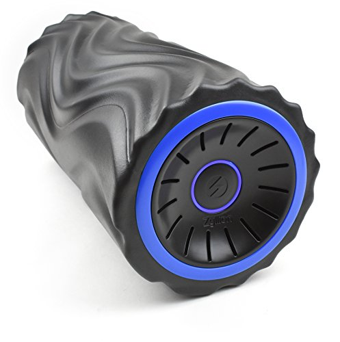 Zyllion Zyllion Vibrating Foam Roller with 4 Intensity Settings – Rechargeable High Density Massager for Post Workout Muscle Recover, Myofascial Release, and Deep Tissue Massage, ZMA-22 (Black/Blue) price tips cheap