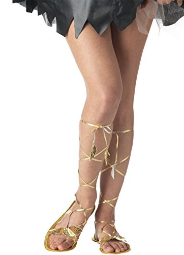 Mememall Fashion Roman Greek Goddess Sandals Costume Accessory - Gold (Jackie Moon Halloween Costume)