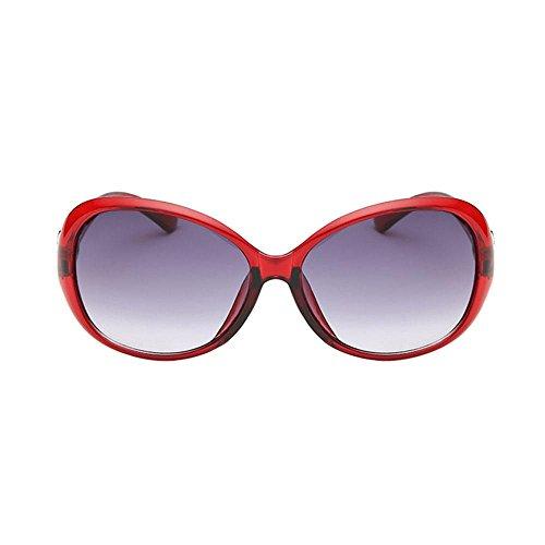 Marron FOONEE Lunette Red Soleil de Marron Femme Sa44Ixq