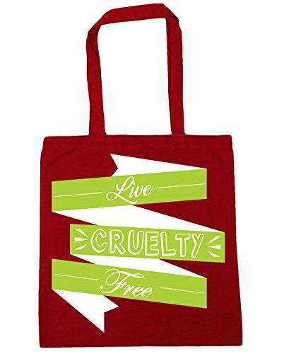 10 Bag Shopping Live HippoWarehouse 42cm Tote x38cm Beach Classic Red Gym Free litres Cruelty 0q6qwv