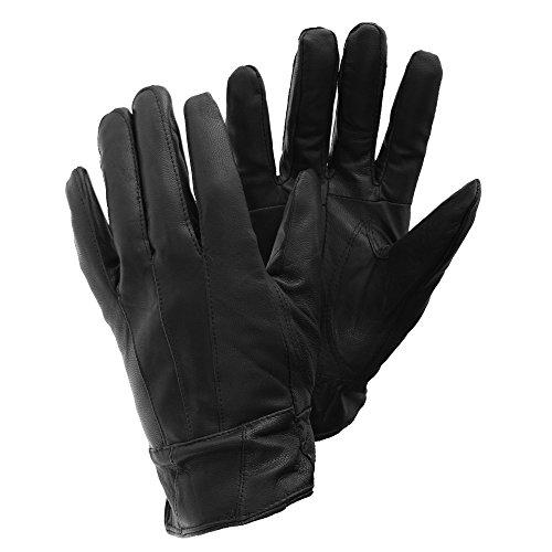 FLOSO® Damen Schafleder-Handschuhe (S/M) (Schwarz)