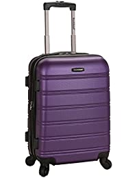 Rockland Luggage Melbourne 20 Inch Expandable Carry On, Purple