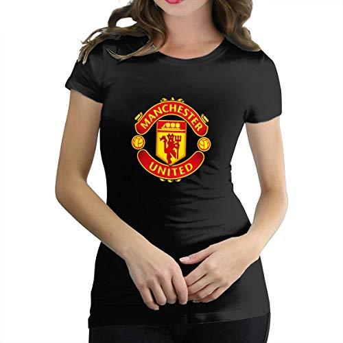 Manchester United Famous Soccer Clubs Logo Women's Cute Sexy Soft T Shirt ()