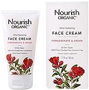 Nourish Organic Ultra Hydrating Face Cream, Argan & Pomegranate, 1.7 O