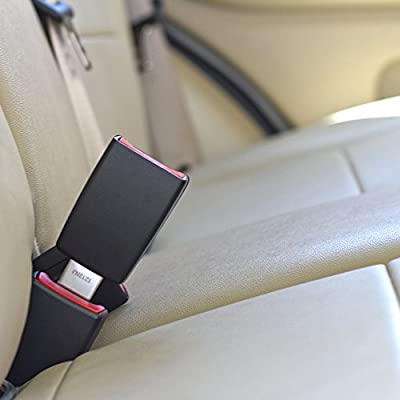 - E-Mark Safety Certified Irregular, Type B: 1 Metal Tongue Width Rigid 5 Seat Belt Extender Accessory Buckle Up /& Drive Safely