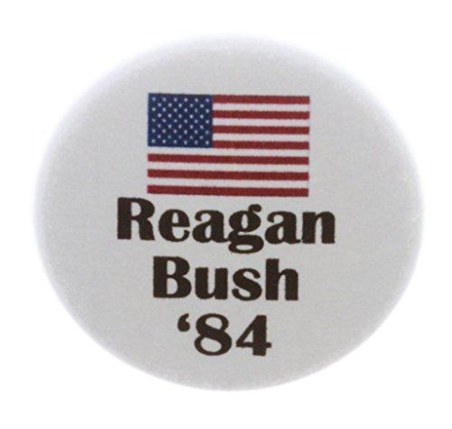 A&T Designs Reagan Bush '84 (American Flag) 1.25