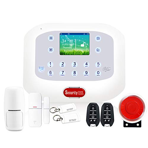 Wireless Home Security Starter Kit with Smart Alarm System Hub, Door and Window Sensors, and Motion Detector,APP Remote…