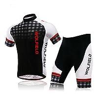 Lixada Fahrrad Trikot Bike Jersey+ Shorts atmungsaktiv Reiten Jacke Hose für...
