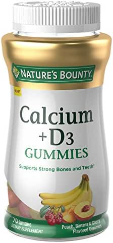 Nature's Bounty Calcium, 70 Count, Fruit Flavored Gummy Vitamin Supplements for Adults
