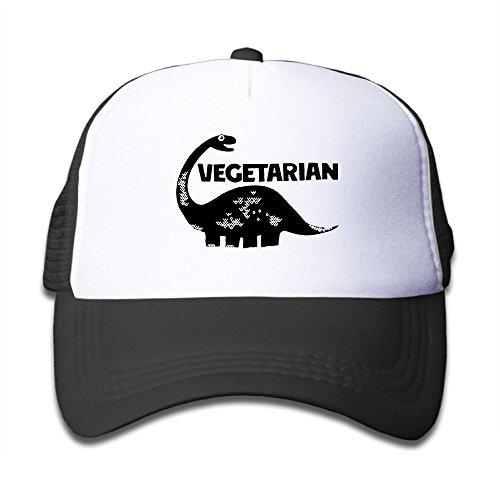 VEGETARIAN DINOSAUR VEGAN Adjustable Child Small Hats Snapback Hat Fits 6~13 Years\r\nOld Kids