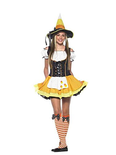 Halloween Movie With 3 Witches (UHC Girl's Kute Kandy Korn Witch Fancy Dress Teen Halloween Costume, Teen S/M (2-8))