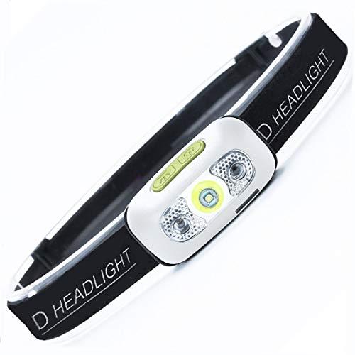 LED Headlamp Flashlight, Sensor Headlamp Rechargeable Headlamp 500 Lumens XPG2 Headlight for Running Biking Fishing Camping Hiking and Kids Headlamp with USB Charging Cable Waterproof Lightweight
