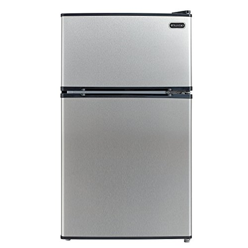 (Whynter MRF-340DS 3.4 Cubic Feet Energy Star Stainless Steel Compact Refrigerator/Freezer)