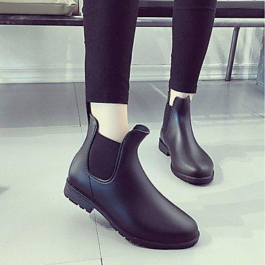 Gll Comfort amp;xuezi Walking Slippers Summer PU Flip White Black Women's Black amp; Chunky Heel Casual Flops UTr0Uq