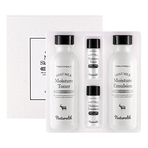 TONYMOLY 2 natural goat milk moisture skin care set, 150ml