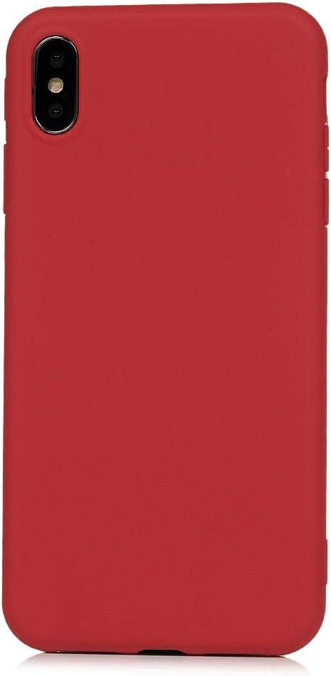 Mlorras iPhone XS Max H/ülle Weich Flexibel Silikon TPU Schutzh/ülle Bumper Anti-Kratzer Sto/ßfest Smartphone Handyh/ülle Abdeckung Case Perfekte Passform rot