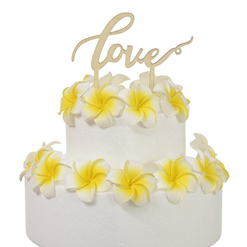 AW Love Cake Topper for Wedding Engagement Anniversary Valentine's Day Party Decoration