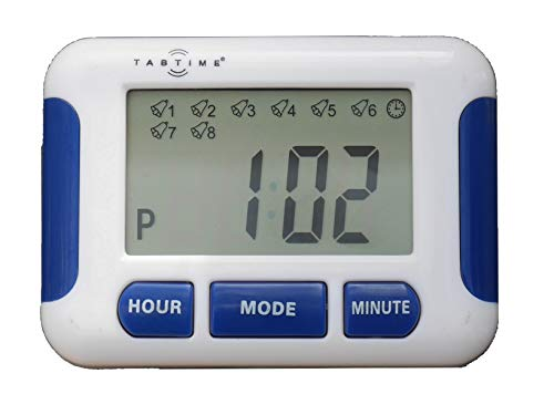- TabTime Timer, Electronic Pill Reminder with 8 Alarms per Day, Essential for Parkinson's Patients