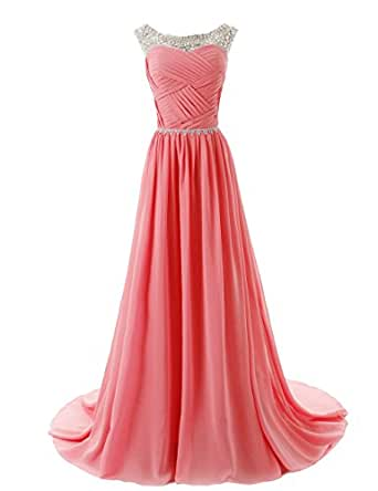Dressystar 174 Beaded Straps Bridesmaid Prom Dress With