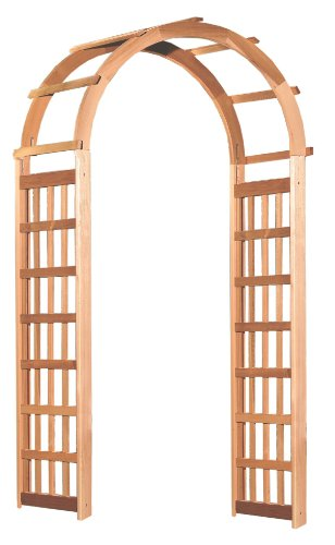 Arboria Glendale Garden Arbor Cedar Wood Over 7ft High With Arch (Arches And Arbors)